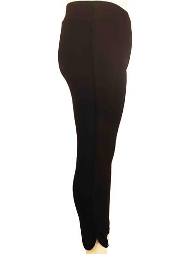 Luokk Poses Toparlayıcı Yüksek Belli Lastikli Yanları Ve Paçası Biyeli Tayt Siyah Siyah